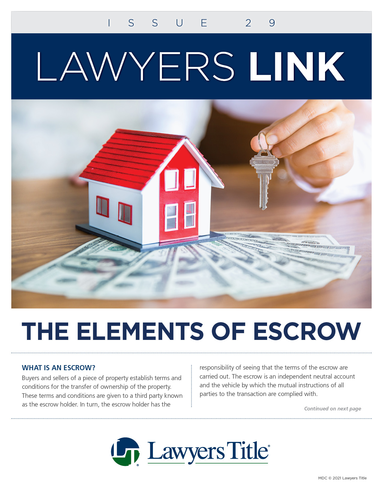 Lawyers Link Issue 29, page 1
